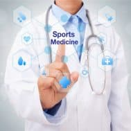 Αθλητίατρος με στηθοσκόπιο